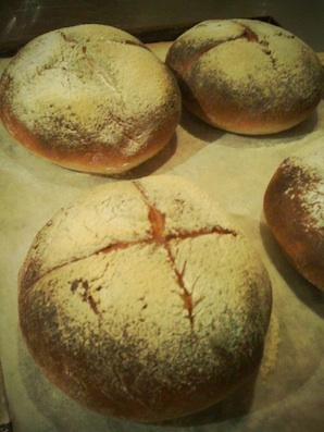 初のパン作り
