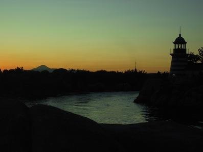 シーから富士山
