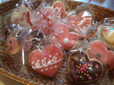 バレンタインのクッキー
