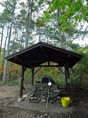 屋根付きピザ釜